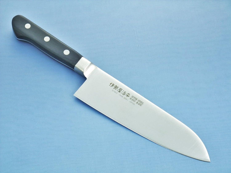 Seto - Cuchillo de cocina japonés con hoja de acero, Santoku-170mm PRO-003