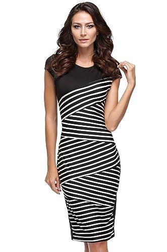 Fashine Women's Striped Bodyco...