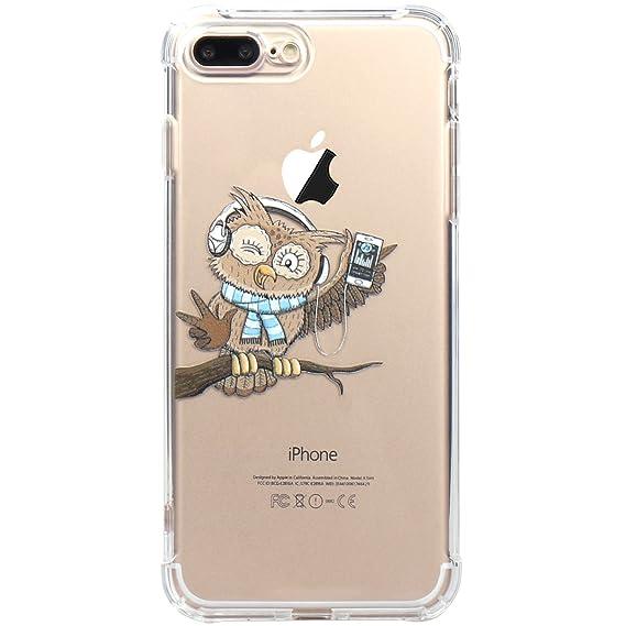 7307247b0bba JAHOLAN iPhone 7 Plus Case, iPhone 8 Plus Case Amusing Whimsical Design  Clear TPU Soft