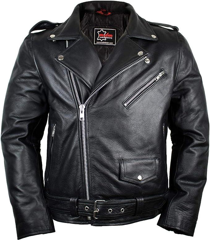 Lederjacke Rockerjacke Rocker Punk Motorradjacke Western Highway Rockabilly Bekleidung
