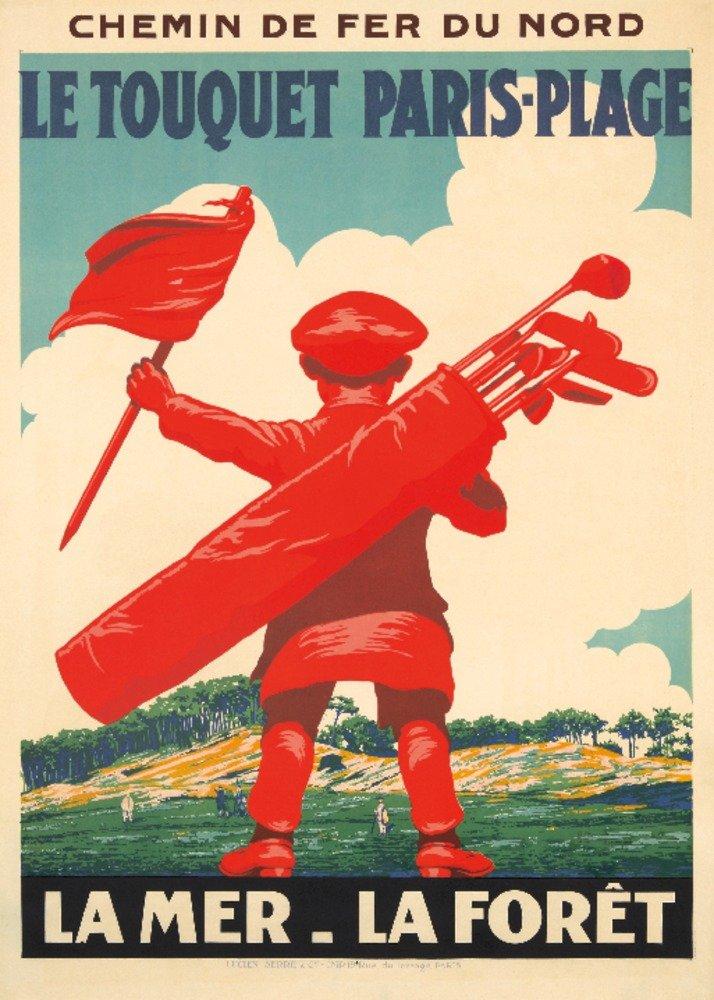 Le Touquet paris-plageヴィンテージポスター(アーティスト: Courchinoux )フランスC。1925 16 x 24 Giclee Print LANT-74039-16x24 B01DURXXWG  16 x 24 Giclee Print