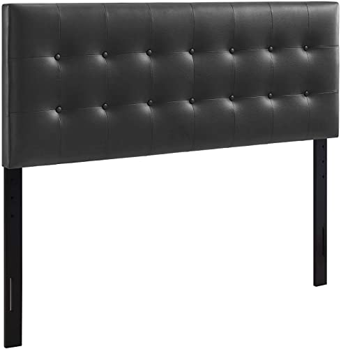 Modway Emily Tufted Button Faux Leather Upholstered King Headboard