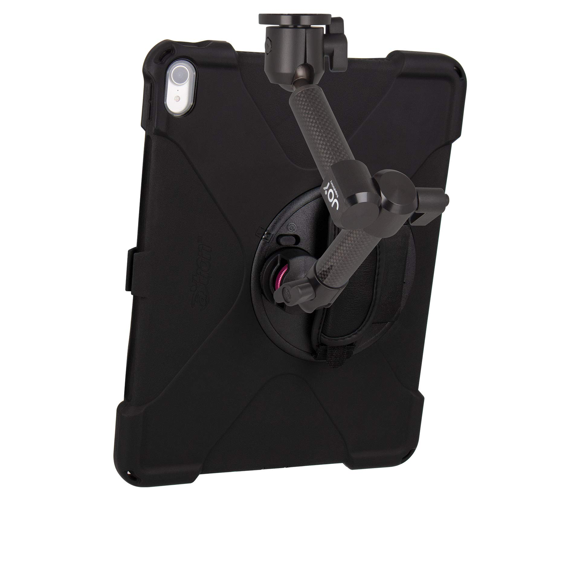 The Joy Factory MagConnect Carbon Fiber Wall/Counter Mount with aXtion Bold MP Water-Resistant Rugged Shockproof Case for iPad Pro 12.9'' [3rd Gen], Built-in Screen Protector, Hand Strap (MWA4104MP) by The Joy Factory (Image #3)