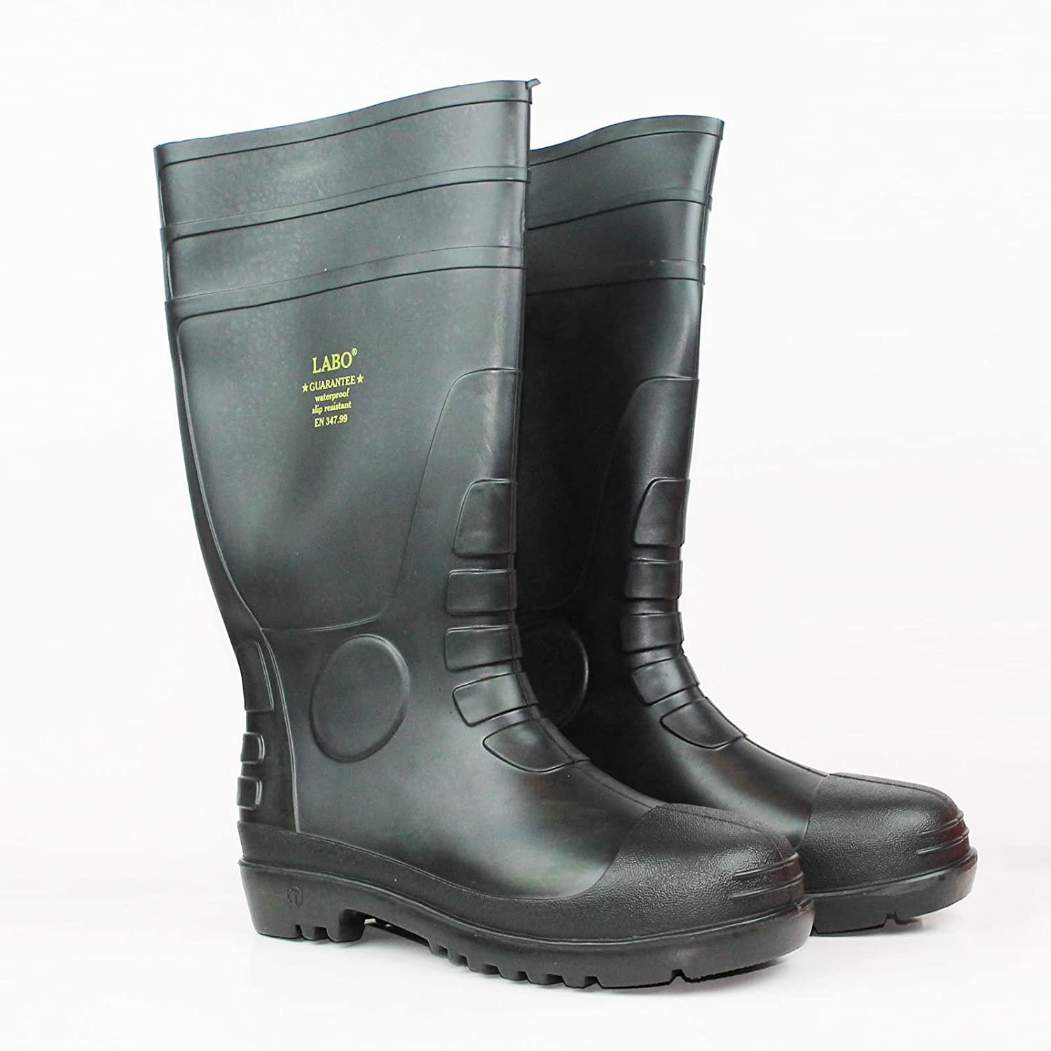 "15.5"" Mens Waterproof Winter Snow Rain Rubber Boots Slip-resistant (M.d)"