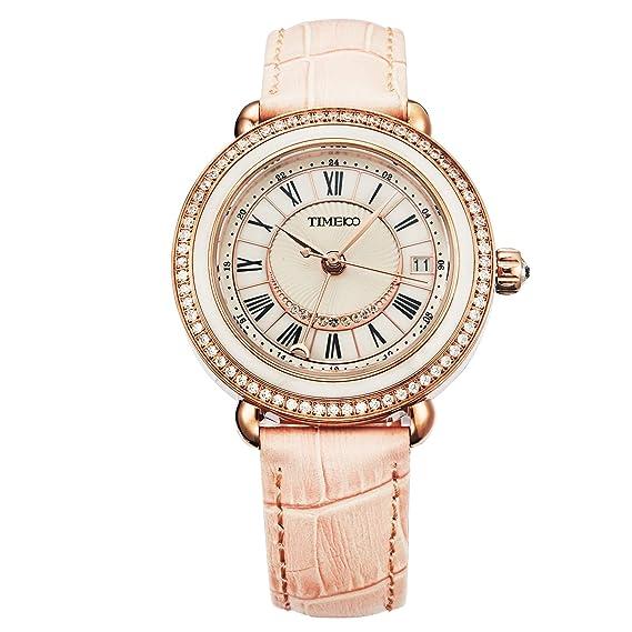 851d6ca68448 Time100 Reloj mecánico automático Pulsera cerámica de la Serie de Regalo para  Mujeres y Chicas (