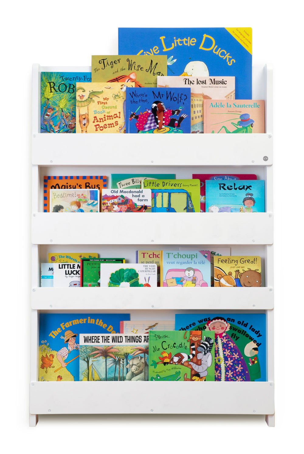 Tidy Books - The Original Kid's Bookcase in White - Front Facing Kid's Bookshelf - Perfect Book Storage for Kids 45.3 x 30.3 x 2.8 IN by Tidy Books