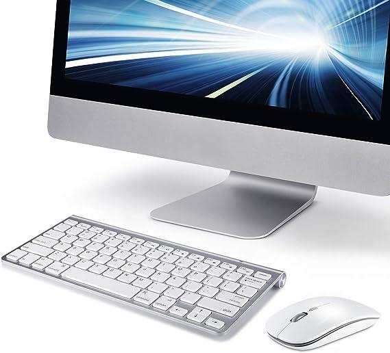 Teclado y ratón inalámbricos para Apple iMac Windows o Android [ Versión en inglés, no español ]