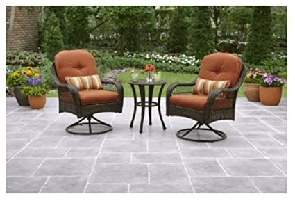 Amazon Com 3 Piece Outdoor Furniture Set Better Homes And Gardens
