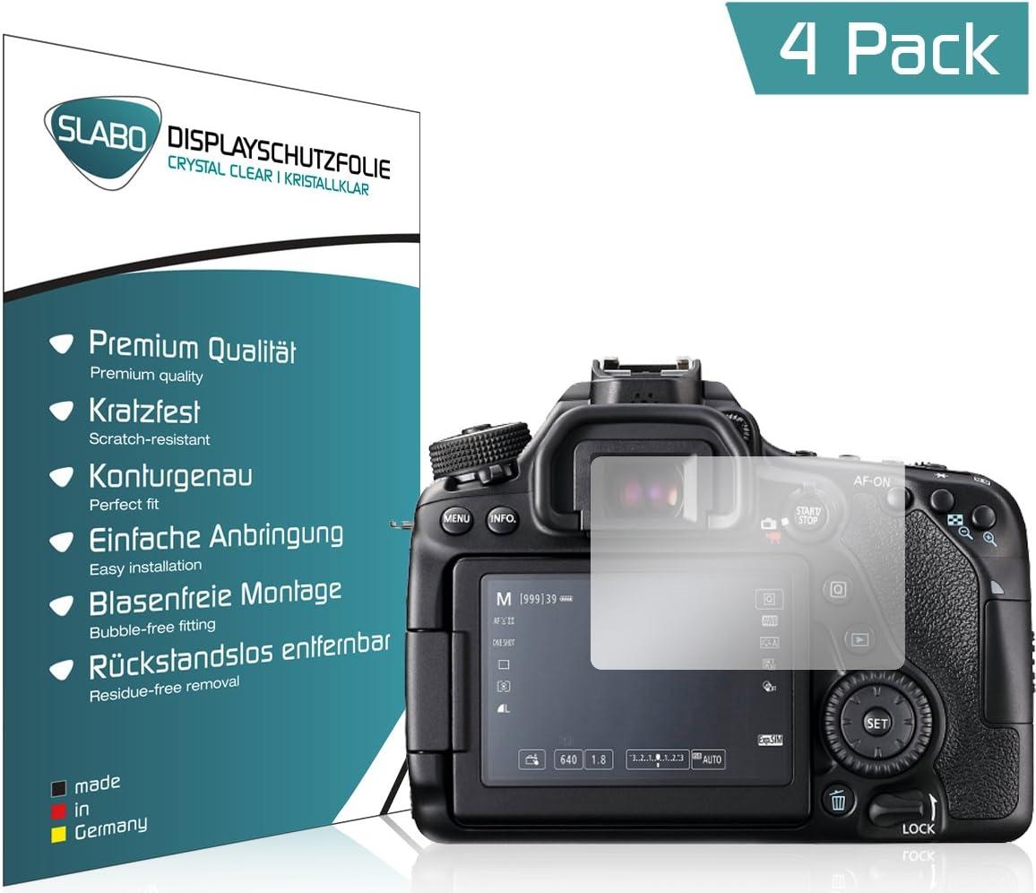 Slabo 2 x Pellicola Protettiva per Display per Canon EOS 80D Protezione Display Crystal Clear