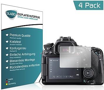 Slabo 4 x Protector de Pantalla para Canon EOS 800D lámina ...