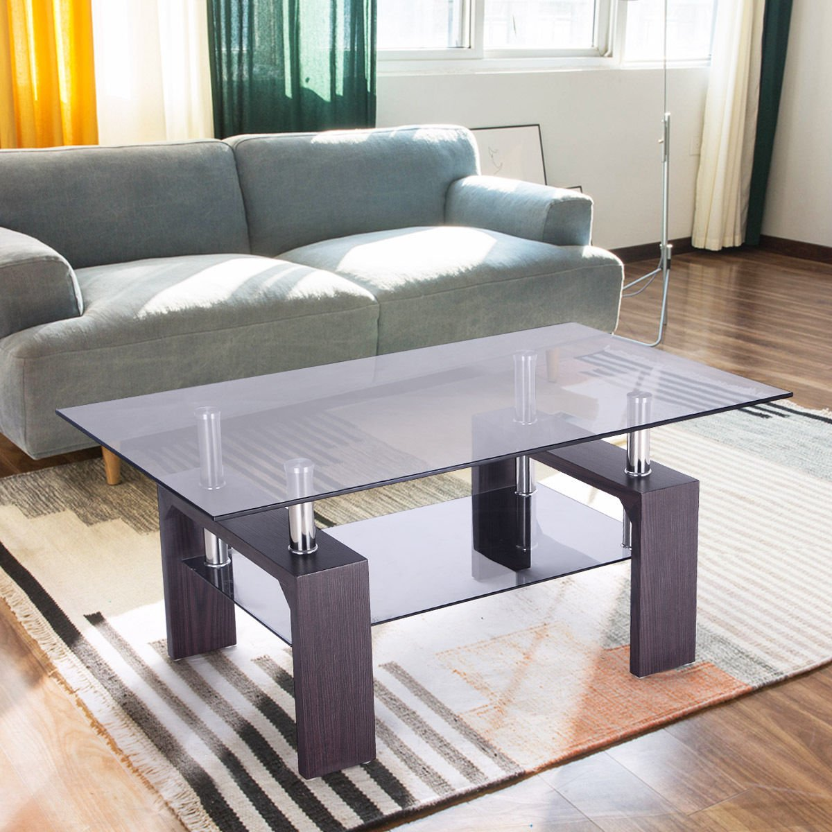 amazon com furniture living room glass living room table sets peenmedia 15979