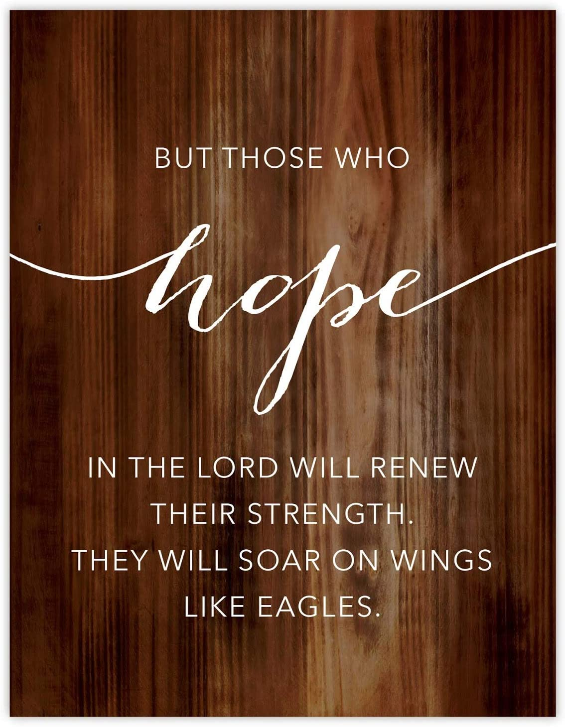 Andaz Press Christian Bible Verses 8.5x11-inch Wood Poster, Isaiah 40:31: But Those who Hope in The Lord Will Renew Their Strength. They Will soar on Wings Like Eagles, 1-Pack