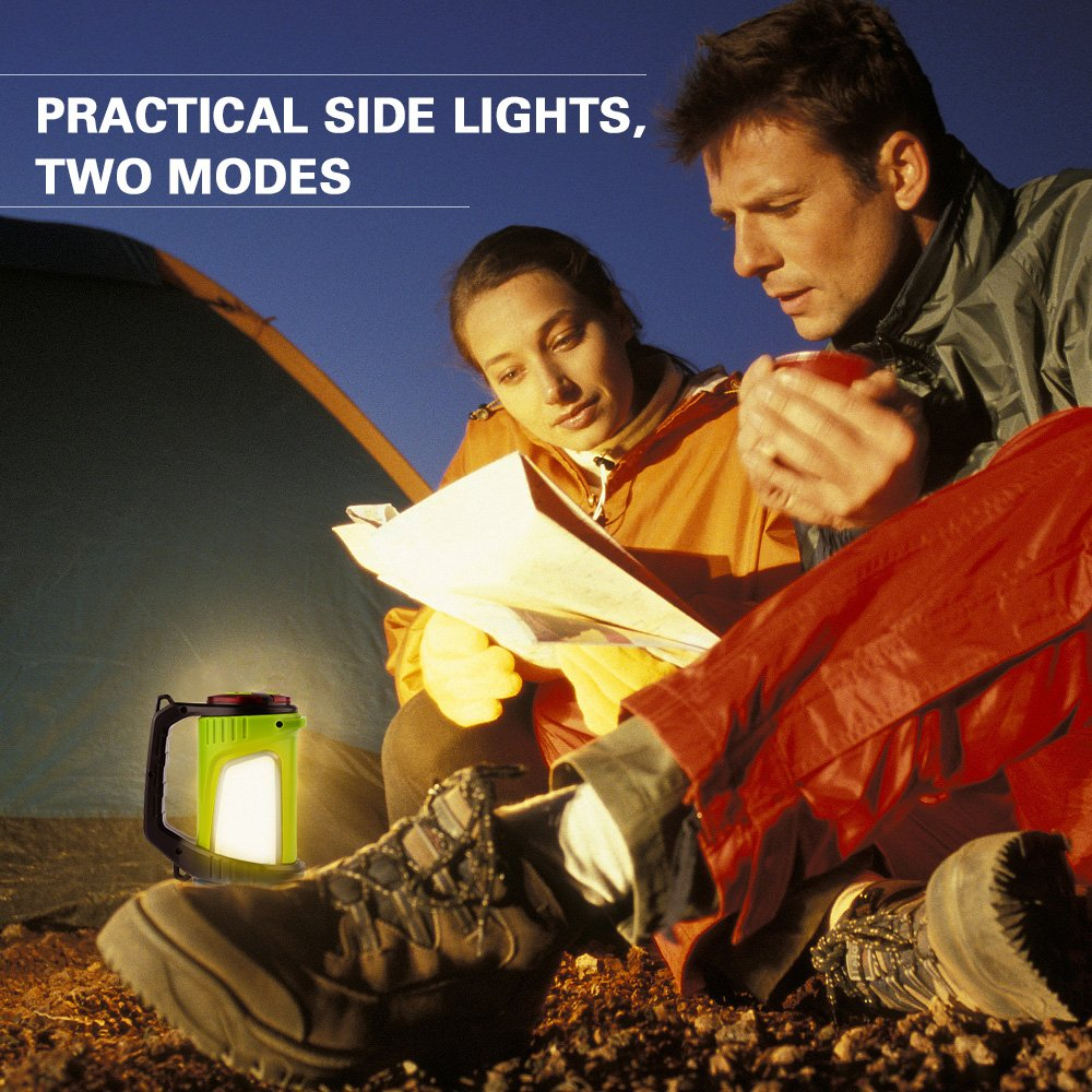 Rechargeable Spotlight Searchlight,Rechargeable Flashlight- 10 Modes Multifunction Super Bright Outdoor Camping Lights with USB Ports to Charge Mobile Devices and Special SOS Modes by Hallomall (Image #7)