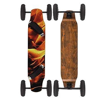 Moracle MountainBoard 99cm Skateboard Longboard 4 Ruedas Monopatín con Rodamiento de Patineta ABEC-9 Niños y Adultos (Llama): Amazon.es: Deportes y aire ...