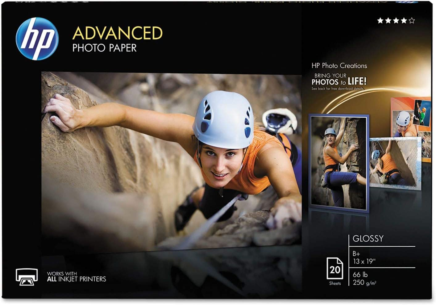 Advanced Photo Paper, 66 lbs, Glossy, 13 x 19, 20 Sheets/Pack