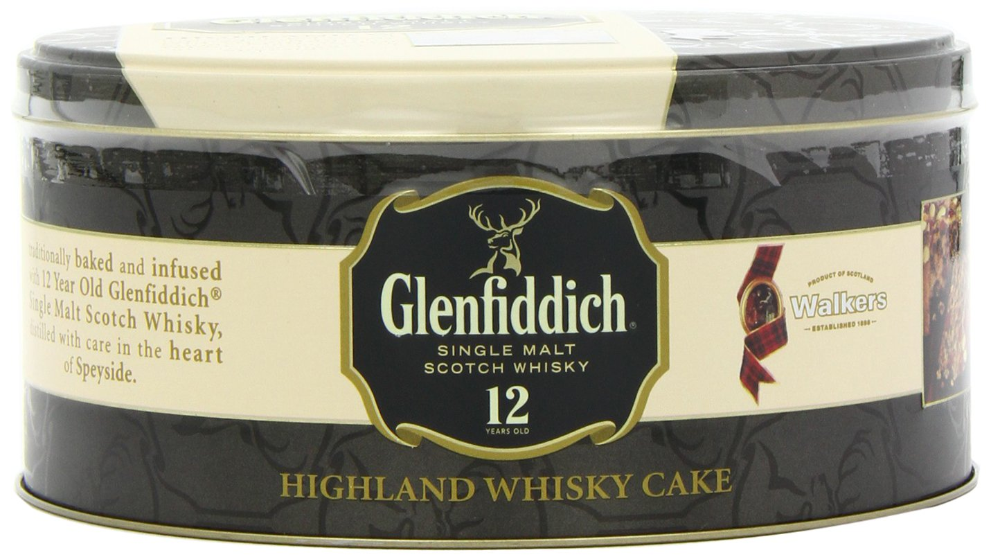 Walkers Shortbread Glenfiddich Highland Whisky Cake, 28.2 Ounce Tin Traditional Scottish Fruit Cake with Glenfiddich Malt Whisky, Cherries, Sultanas by Walkers Shortbread (Image #4)