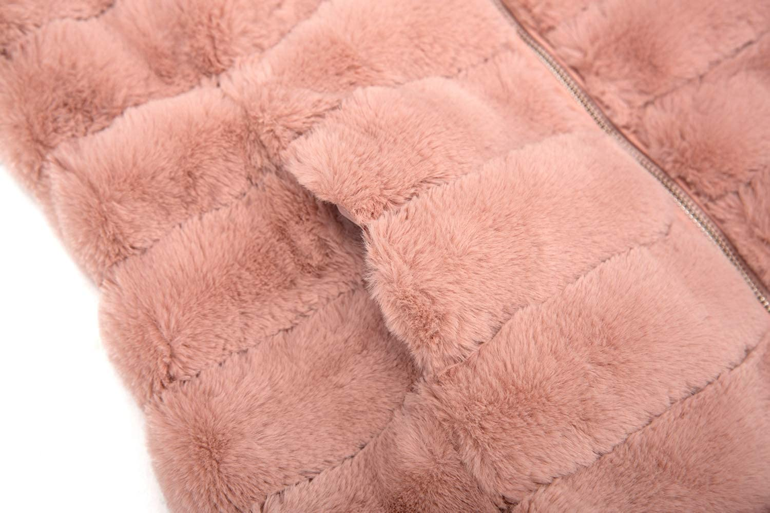 Bellivera Women/'s Faux Fur Jacket for Winter,Faux Rabbit Hair Shaggy Oversized Coat with 2 Side-Seam Pockets and Hood