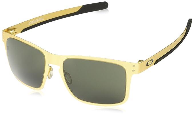 Oakley Holbrook Metal, Gafas de Sol para Hombre, Satin Gold, 55