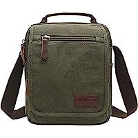Vertical Canvas Messenger Bag, Mygreen Unisex Casual leather Shoulder Bag Satchel Crossbody Bag for Outdoor Activities…