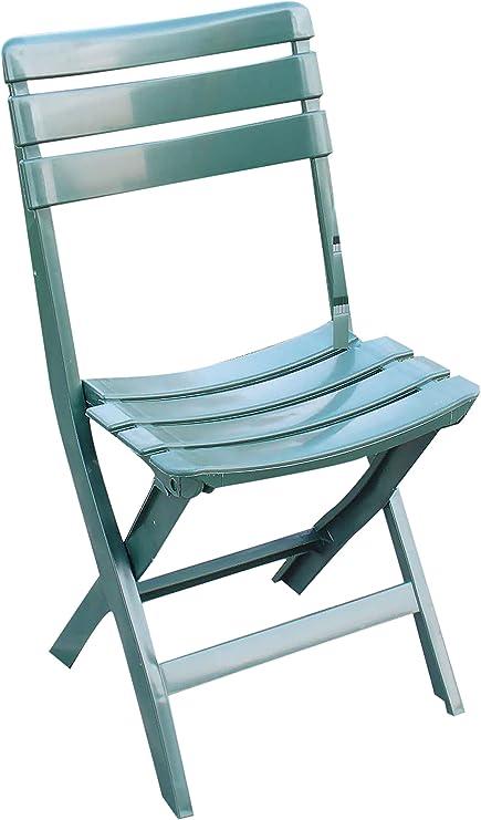 Sedie Plastica Per Giardino.Sedia Pieghevole In Plastica Verde 4pz Per Giardino Arredo Esterno