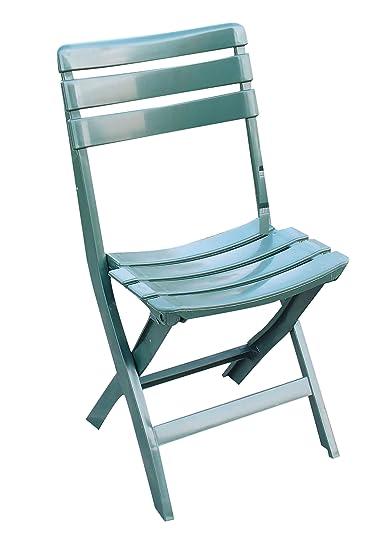 Sedie Pieghevoli In Plastica.Sedia Pieghevole In Plastica Verde 4pz Per Giardino Arredo Esterno