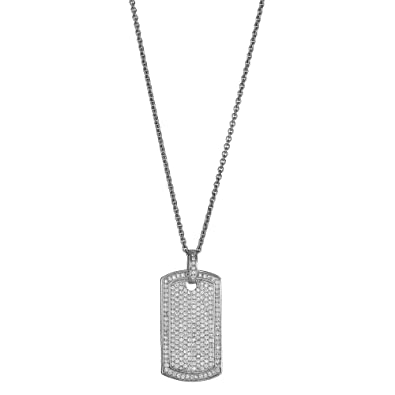 Amazon sterling silver dog tag pendant jewelry sterling silver dog tag pendant aloadofball Images