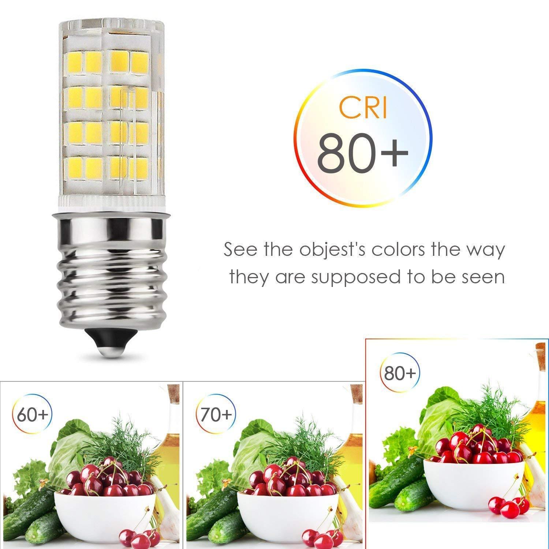 Pack of 5 E17 LED Bulb Microwave Oven Light Dimmable 4 Watt Daylight White 6000K 52X2835SMD AC110-130V Mhxy
