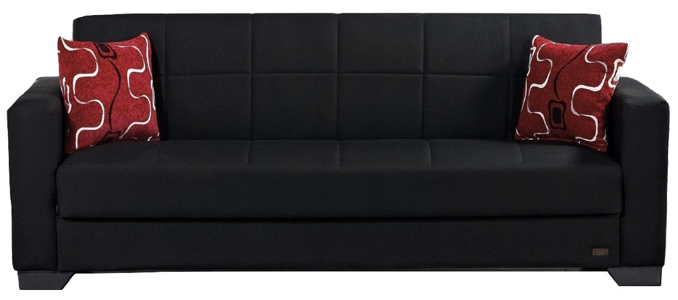 BEYAN SB 2019 Gray Vermont Modern Chenille Fabric Upholstered Convertible  Sofa Bed with Storage | Jodyshop