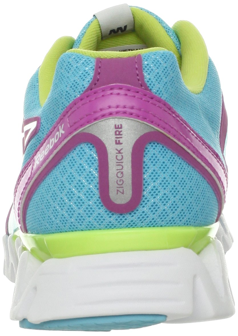 Reebok Women's Zigquick Fire Cross-Training Shoe,Watery Blue/Cool Aloe/Iced Berry/White,10 M US by Reebok (Image #2)