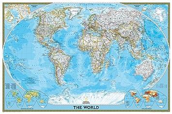 Carte Du Monde National Geographic.Carte Du Monde Politique Classic De National Geographic