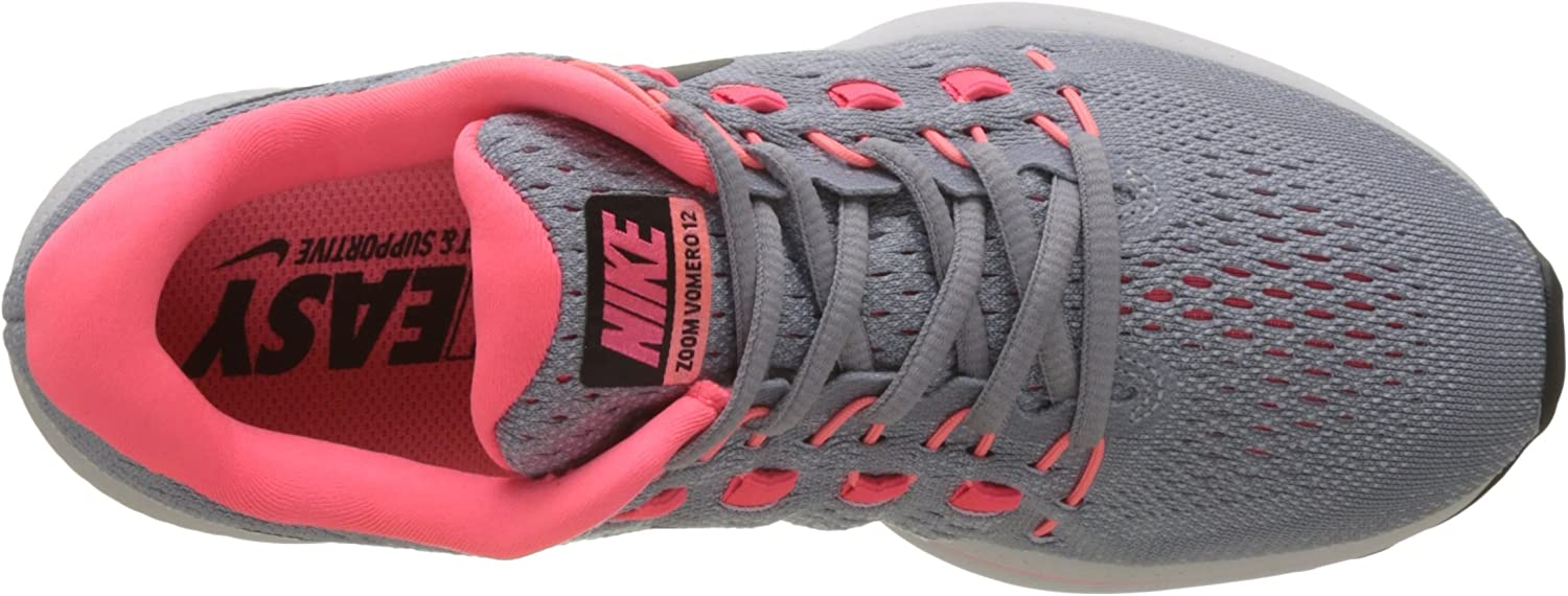 Nike W Air Zoom Vomero 12 (N), Zapatillas de Trail Running para Mujer, Gris (Wolf Grey/Black/Pure Platinum/Hot Punch 002), 40 EU: Amazon.es: Zapatos y complementos