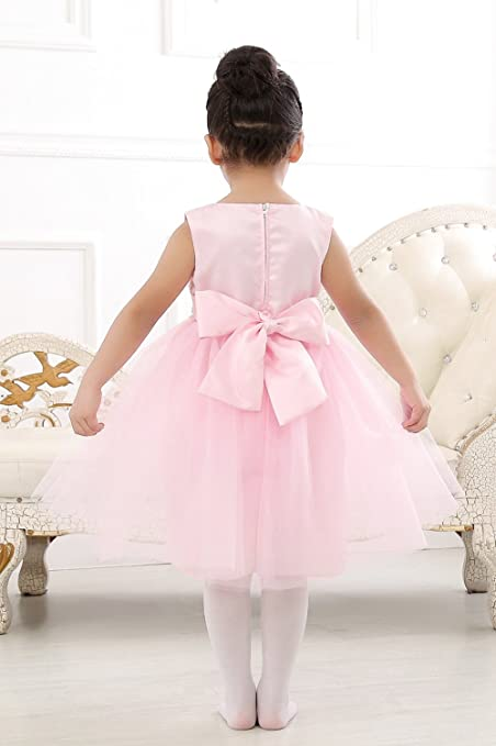 aa962777cf0f Amazon.com  Merry Day Sequin Lace Tulle Flower Girl Dress-Baptism ...
