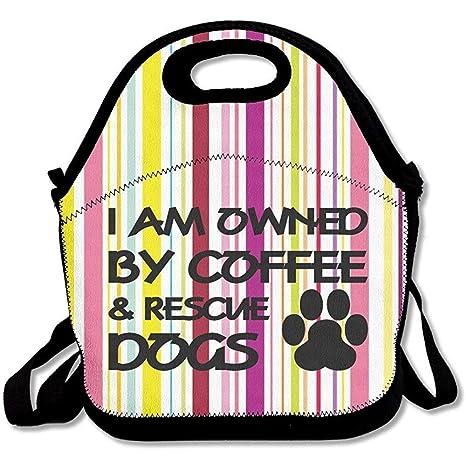 I Am Owned by Coffee and Rescue Dogs - Bolsas de almuerzo de ...