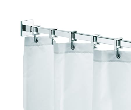 metal hotel chrome over shipping fashions curtain on rods rod orders overstock by inch three elegant collection bath adjustable free bedding shower curtains home product