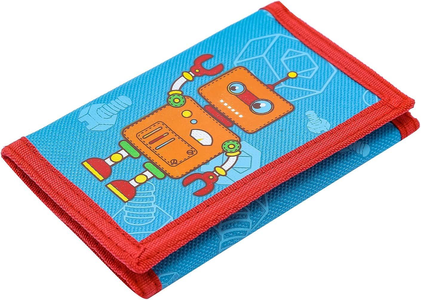 Cute Cartoon Wallet with Zipper for Kids Blue Owl RFID Wallet