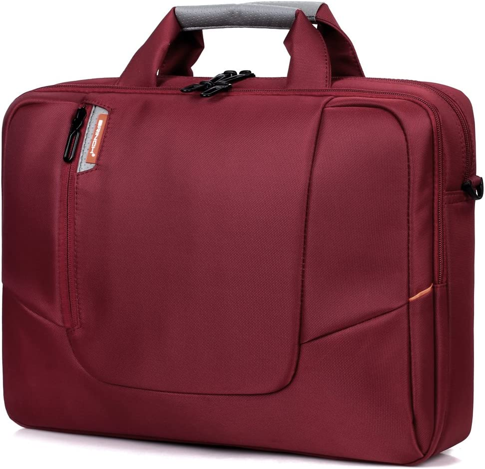 DTBG 15.6 Pouces Sacoche Ordinateur Portable Sac /à Bandouli/ère Sac /à Main Porte-Document Compatible MacBook//Notebook//Netbook//Chromebook//Tablette Ordinateurs Rouge