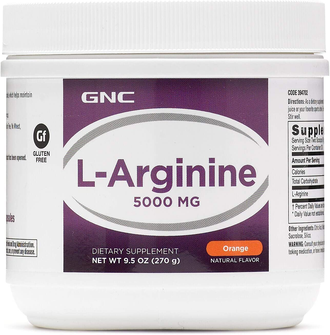 GNC LArginine 5000mg Orange 270 g