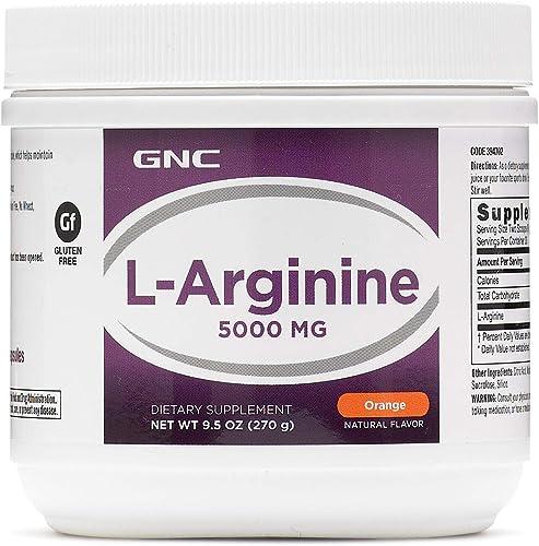 GNC L-Arginine Powder 5000mg 9.5oz 270g