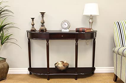 Perfect Frenchi Home Furnishing Console Sofa Table With Drawer, Expresso