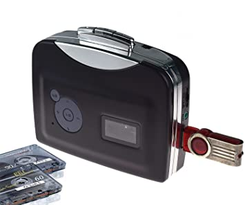 Convertidor y Reproductor de Cinta casetes,Convertir Audio Cassette a MP3 Digital,Guardar en USB Flash Disk Directamente -No Requiere PC: Amazon.es: ...