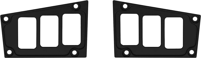 STV Motorsports 2017-2018 Polaris RZR XP 1000 RIDE COMMAND Custom Switch Dash Panel Plates - 100% MADE in USA (short, black)