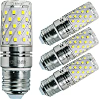 Sagel E27 LED Corn Bulbs 12W, 100W Incandescent Bulbs Equivalent, 6000K Cool White Candelabra Bulbs, Non-Dimmable, 1200Lm, Edison Screw Corn Light Bulbs, 4-Pack