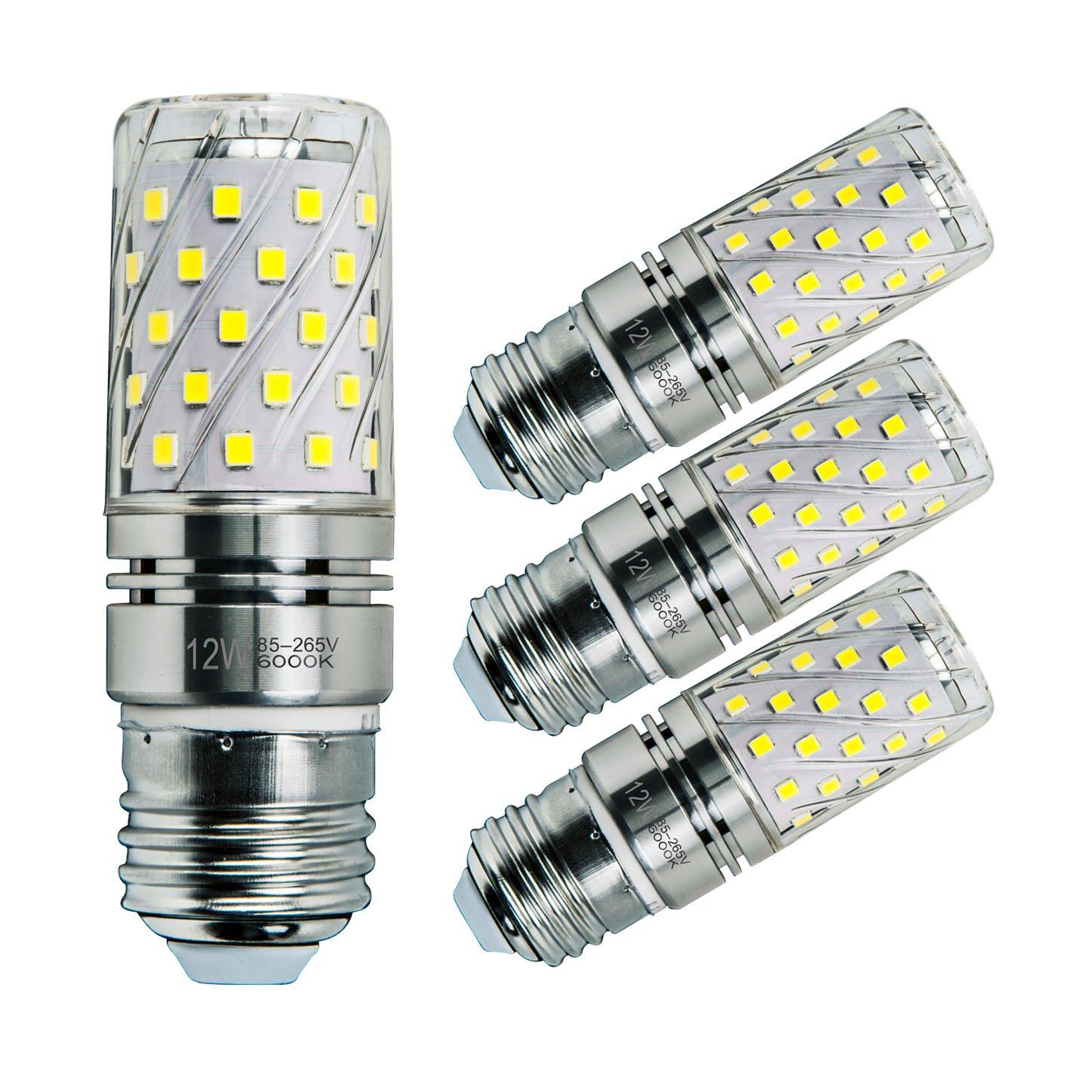 Sagel E27 LED Bombillas de Maíz 12W, 100W Bombillas Incandescentes Equivalente, 6000K Blanco Fresco Candelabro E27 Bombillas, No Regulable, 1200Lm, ...