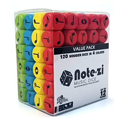 The Piano Gamer Notezi Wooden Music Dice Value Pack: Toys & Games