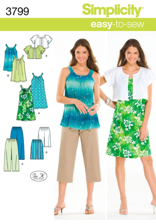 Simplicity Sewing Pattern 3799 AA Misses/ Juniors Sportswear
