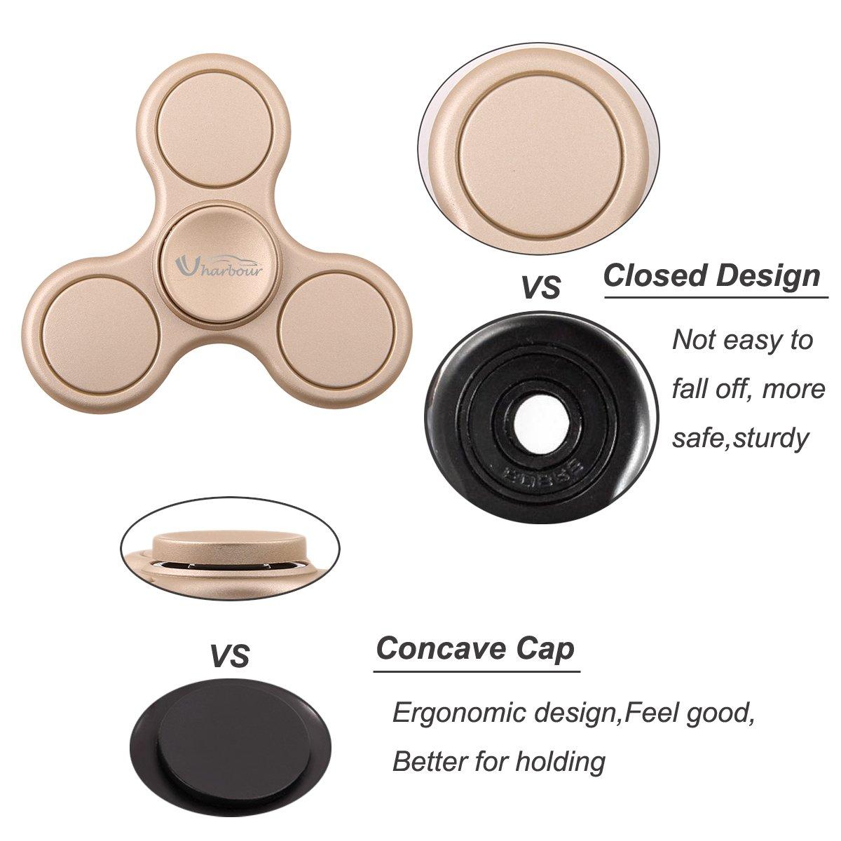 Mute Bearing for Kids Luxury Gold Uharbour ElitePro Prime Anti Stress Hand Toy Fidget Tri-Spinner