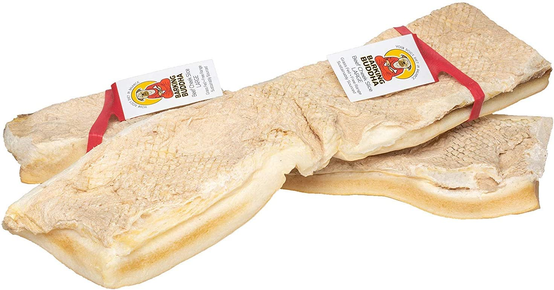 Barking Buddha 6 Pack of Beef Cheek Slices, Large, Rawhide Alternative Dog Chews