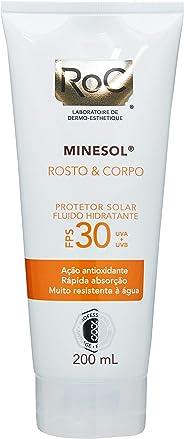 Protetor Solar ROC Rosto e Corpo FPS 30, 200ml