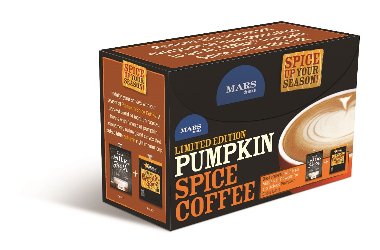 Amazon.com : ALTERRA Coffee Pumpkin Spice Single Serve Freshpacks for MARS DRINKS FLAVIA Brewer, 20 Packets : Grocery & Gourmet Food