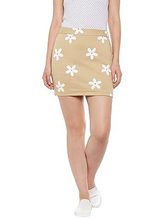 dd8e76223e Rider Republic Women Beige Pencil Short Skirt: Amazon.in: Clothing ...